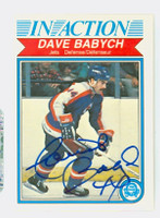Dave Babych AUTOGRAPH 1982 OPC Jets In Action 