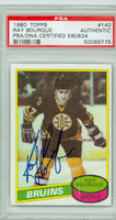 Ray Bourque AUTOGRAPH 1980-81 Topps Bruins PSA/DNA 