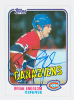 Brian Engblom AUTOGRAPH 1981 OPC Canadiens 