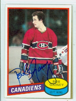 Bob Gainey AUTOGRAPH 1980-81 Topps Canadiens 