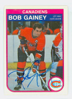 Bob Gainey AUTOGRAPH 1982 OPC Canadiens 