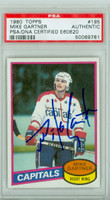 Mike Gartner AUTOGRAPH 1980-81 Topps Capitals ROOKIE PSA/DNA 