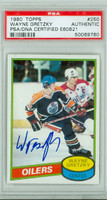 Wayne Gretzky AUTOGRAPH 1980-81 Topps Oilers 2nd YEAR PSA/DNA 