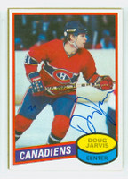 Doug Jarvis AUTOGRAPH 1980-81 Topps Canadiens 
