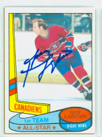 Guy Lafleur AUTOGRAPH 1980-81 Topps Canadiens All Star 