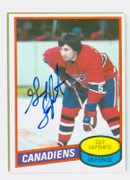 Guy Lapointe AUTOGRAPH 1980-81 Topps Canadiens 