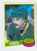 Dave Lewis AUTOGRAPH 1980-81 Topps Kings 