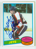 Willy Lindstrom AUTOGRAPH 1980-81 Topps Jets   [SKU:LindW80196_T80HKjl]