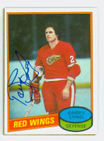Barry Long AUTOGRAPH 1980-81 Topps Red Wings 