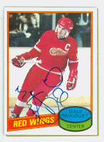Dale McCourt AUTOGRAPH 1980-81 Topps Red Wings 
