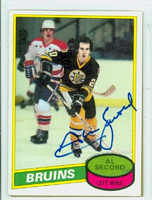 Al Secord AUTOGRAPH 1980-81 Topps Bruins 