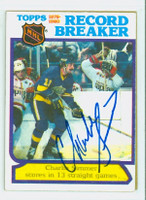 Charlie Simmer AUTOGRAPH 1980-81 Topps Kings Record Breaker 