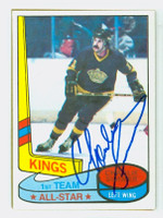 Charlie Simmer AUTOGRAPH 1980-81 Topps Kings All Star 