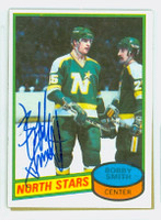 Bobby Smith AUTOGRAPH 1980-81 Topps North Stars 