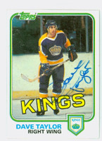 Dave Taylor AUTOGRAPH 1981 OPC Kings 