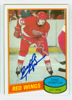 Errol Thompson AUTOGRAPH 1980-81 Topps Red Wings 