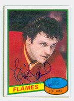Eric Vail AUTOGRAPH 1980-81 Topps Flames 