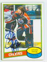 Stan Weir AUTOGRAPH 1980-81 Topps Oilers 