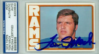 Tom Mack AUTOGRAPH 1972 Topps Football Rams PSA/DNA 