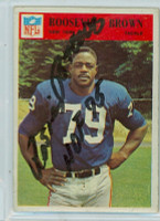 Roosevelt Brown AUTOGRAPH d.04 1966 Philadelphia #119 Giants 