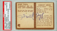 Forrest Gregg AUTOGRAPH 1967 Philadelphia Packers BACK SIGNED PSA/DNA 