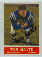 Tom Matte AUTOGRAPH 1964 Philadelphia #6 Colts ROOKIE CARD 