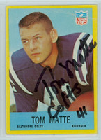 Tom Matte AUTOGRAPH 1967 Philadelphia #21 Colts 