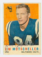 Jim Mutscheller AUTOGRAPH 1959 Topps Football Colts 