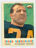 Frank Varrichione AUTOGRAPH 1959 Topps Football Steelers 