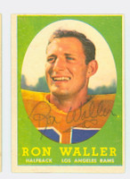 Ron Waller AUTOGRAPH 1958 Topps Football Rams 