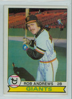 Rob Andrews AUTOGRAPH 1979 Topps #34 Giants 