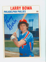 Larry Bowa AUTOGRAPH 1979 Hostess Phillies 