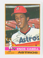 Enos Cabell AUTOGRAPH 1976 Topps #404 Astros 