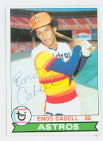 Enos Cabell AUTOGRAPH 1979 Topps #515 Astros 