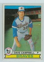 Dave Campbell AUTOGRAPH 1979 Topps #9 Braves 