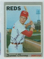 Darrel Chaney AUTOGRAPH 1970 Topps #3 Reds   [SKU:ChanD1256_T70BBLB]