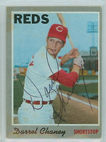 Darrel Chaney AUTOGRAPH 1970 Topps #3 Reds   [SKU:ChanD1256_T70BBle]