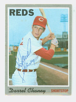 Darrel Chaney AUTOGRAPH 1970 Topps #3 Reds   [SKU:ChanD1256_T70BB]