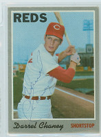 Darrel Chaney AUTOGRAPH 1970 Topps #3 Reds   [SKU:ChanD1256_T70BBq]