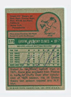 Gene Clines AUTOGRAPH 1975 Topps Mini #575 Mets BACK SIGNED