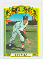 Ray Culp AUTOGRAPH 1972 Topps #2 Red Sox 