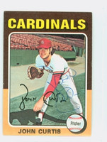 John Curtis AUTOGRAPH 1975 Topps Mini #381 Red Sox 