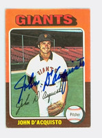 John D' Acquisto AUTOGRAPH 1975 Topps Mini #372 Giants 
