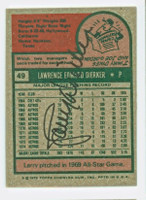 Larry Dierker AUTOGRAPH 1975 Topps #49 Astros BACK SIGNED