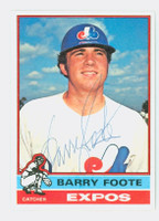 Barry Foote AUTOGRAPH 1976 Topps #42 Expos 