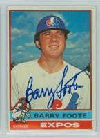 Barry Foote AUTOGRAPH 1976 Topps #42 Expos   [SKU:FootB4604_T76BBLE]