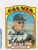 Charlie Fox AUTOGRAPH d.04 1972 Topps #129 Giants   