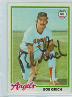 Bob Grich AUTOGRAPH 1978 Topps #18 Angels 