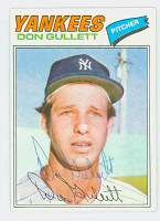 Don Gullett AUTOGRAPH 1977 Topps #15 Yankees 
