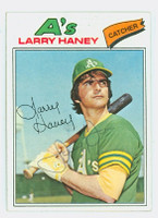 Larry Haney AUTOGRAPH 1977 Topps #12 Athletics 